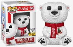 Funko Pop Ad Icons: Coca-Cola: Coca-Cola Polar Bear (Hot Topic) (Diamond)