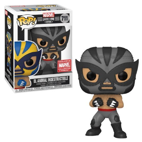 Funko Pop! Marvel: Lucha Libre - El Animal Indestructible (Marvel Collector Corps)