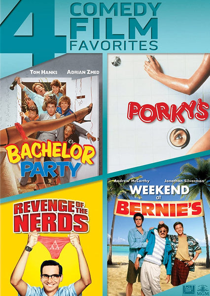 4 Comedy Film Favorites: Bachelor Party/Porky's/Revenge of the Nerds/Weekend at Bernies
