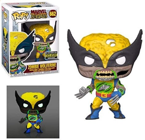 Funko Pop Marvel: Marvel Zombies - Wolverine (Glow In The Dark) (Entertainment Earth)