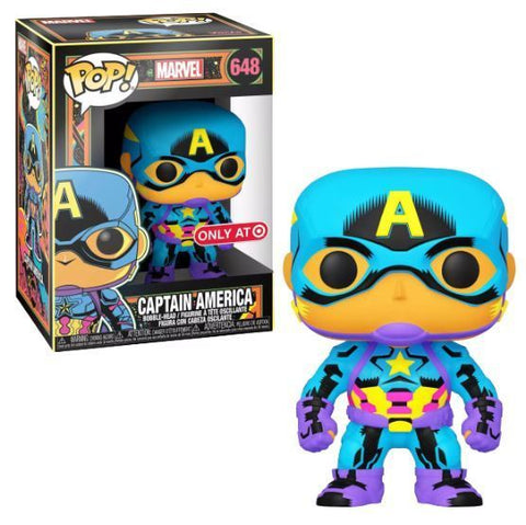 Funko Pop Marvel: Marvel Comics - Captain America (Black Light) (Target)