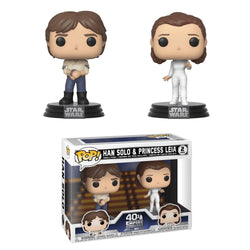Funko Pop Star Wars: Empire Strikes Back - Han Solo & Princess Leia (2-Pack)