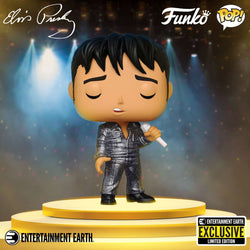 Funko Pop Rocks: Elvis Presley - 1968 Comeback Special (Diamond Collection) (Entertainment Earth)