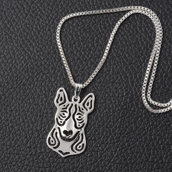 BULL TERRIER CHARM W/ NECKLACE - SPECIAL OFFER