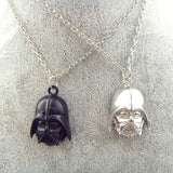 DARTH VADER HELMET PENDANTS/NECKLACES (Black or Silver)