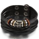 VINTAGE MEN'S LADIES CROSS TWIST LEATHER BRACELET - SPECIAL OFFER
