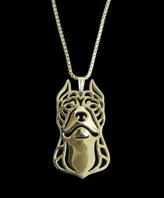 PIT BULL CHARM W/ NECKLACE - RETAIL