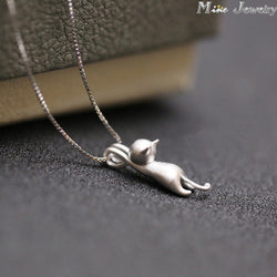 925 Sterling Silver Cat Necklace/Pendant Cats - Special Offer