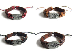 POT LEAF GENUINE LEATHER BRACELET - SPECIAL OFFER