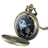ANTIQUE BRONZE NIGHTMARE BEFORE CHRISTMAS POCKET WATCH - SPECIAL OFFER