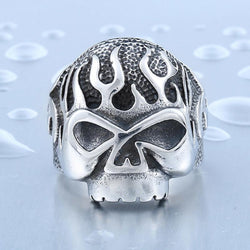 FIRED UP SKULL PUNK/BIKER RING