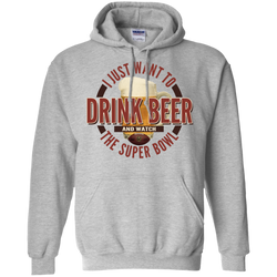 I Just Want To Drink Beer And Watch The Super Bowl Hoodie