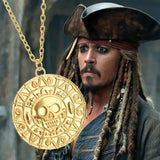 PIRATES OF THE CARIBBEAN SKULL MEDALLION W/ NECKLACE - SPECIAL OFFER