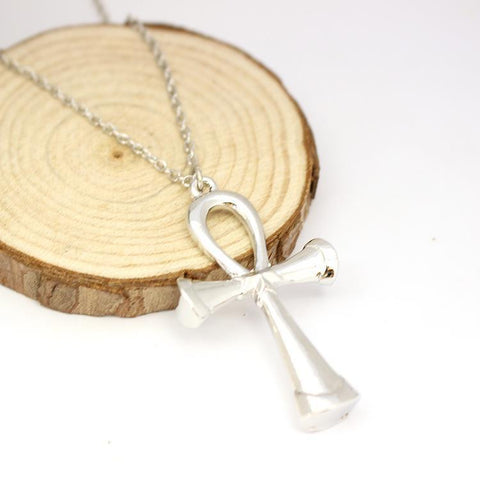 STAINLESS STEEL CROSS W/NECKLACE -FREE SHIPPING - RETAIL