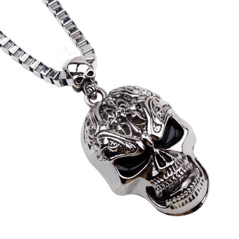 TITANIUM STEEL SKULL PENDANTS WITH CHAIN - SPECIAL OFFER