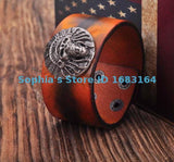 ORANGE LEATHER WRISTBAND CUFF - SPECIAL OFFER