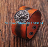 ORANGE LEATHER WRISTBAND CUFF - FREE OFFER - Free + Shipping