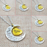 I LOVE YOU TO THE MOON AND BACK SILVER NECKLACE WITH PENDANT - SPECIAL OFFER