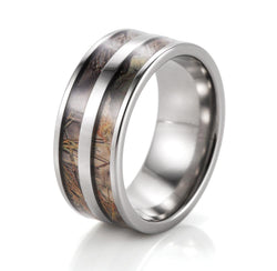 BLACK DOUBLE BARREL CAMOUFLAGE TITANIUM CAMO RING - RETAIL