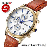 Classic Men's Watch in Silver or Gold - 50% Off