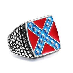 REBEL FLAG RING