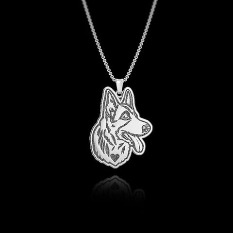 HANDMADE POLICE K9 GERMAN SHEPHERD PENDANT WITH NECKLACE - SPECIAL OFFER