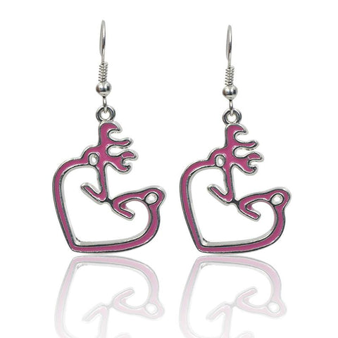 PINK BUCK & DOE EARRINGS - SPECIAL OFFER