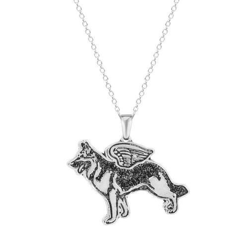 HANDMADE K9 GERMAN SHEPHERD PENDANT WITH NECKLACE - SPECIAL OFFER