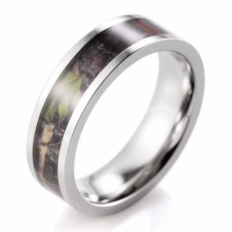MEN'S CAMOUFLAGE TITANIUM GREEN MOSSY TREE CAMO RING - SPECIAL OFFER -RETAIL