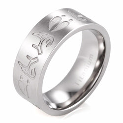 TITANIUM DEER TRACKS AND ANTLERS RING - SPECIAL OFFER -RETAIL