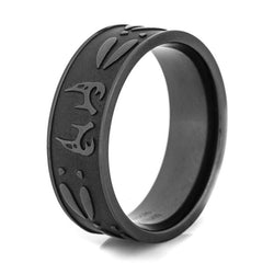BLACK ANTLER TITANIUM RING- RETAIL