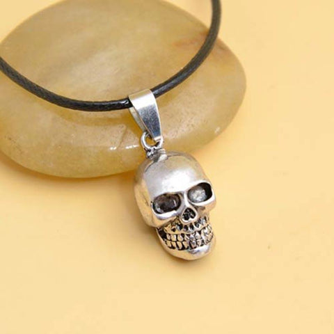 SMOOTH SKELETON SKULL PENDANT WITH CHAIN - SPECIAL OFFER