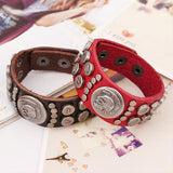 LEATHER SKULL CHARM COUPLE'S BRACELET - SPECIAL OFFER