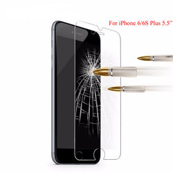 Glass Screen Protector (Apple iphone 6 6S Plus 5 5S 5C SE 4 4S)