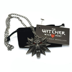 THE WITCHER MEDALLION PENDANT AND CHAIN NECKLACE - SPECIAL OFFER