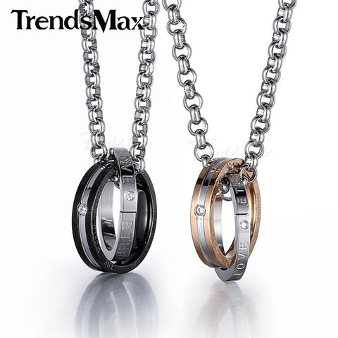 ETERNAL LOVE STAINLESS STEEL PENDANT W/ NECKLACE - RETAIL
