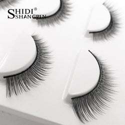 3 pairs Natural False Eyelashes eyelash Extension full strip lash makeup tool Maquillage cilia cilios Eye lashes Faux Cilios
