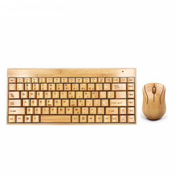 BEAUTIFUL HANDMADE WIRELESS BAMBOO KEYBOARD AND MOUSE