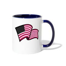 Load image into Gallery viewer, God Bless America Coffee Mug - white/cobalt blue