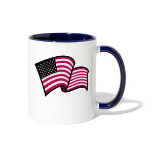 God Bless America Coffee Mug - white/cobalt blue
