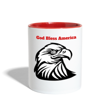 Load image into Gallery viewer, God Bless America Coffee Mug - white/red