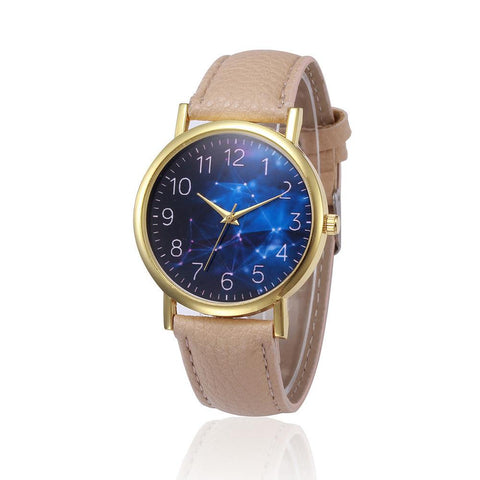 STAR SKY PATTERN DESIGN LEATHER BAND WOMEN'S WATCH - SPECIAL OFFER