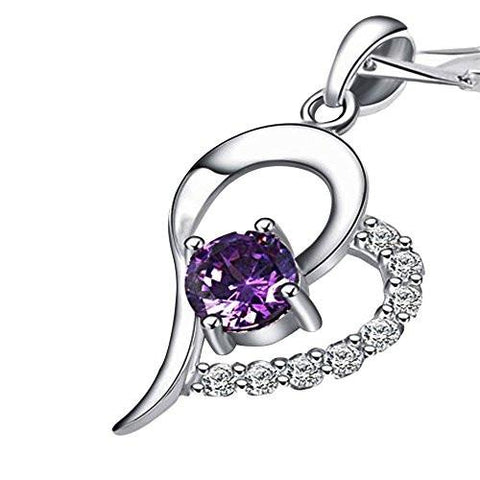 Crystal Diamond Hollow out Heart Shape 925 Sterling Silver Pendant