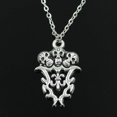 SILVER SKULL CROSS PENDANT WITH CHAIN - SPECIAL OFFER