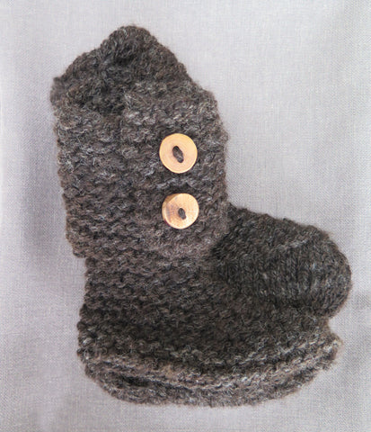 Booties With Wood Buttons