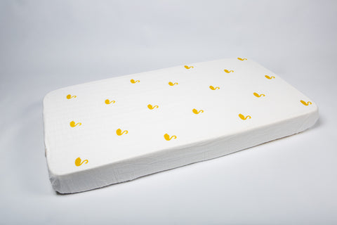 Swan Fitted Cot Sheet