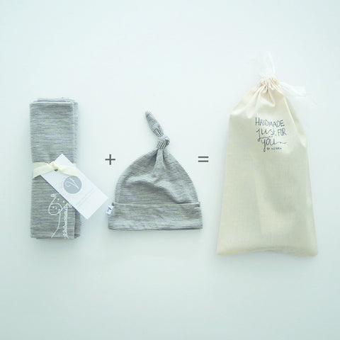GIFT PACK ONE // Merino Swaddle + Hat
