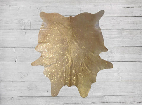Gold Metallica Cowhide