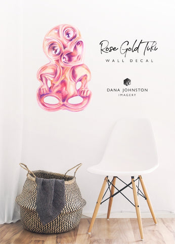 Rose Gold Tiki Wall Decal