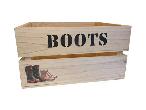 Large Boots Storage Crate